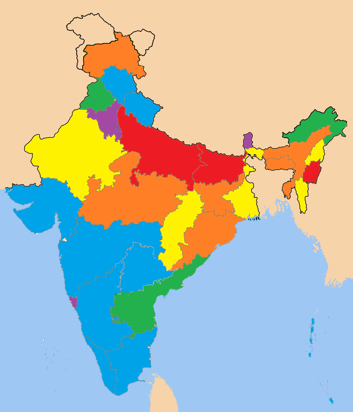 List Of Indian States And Union Territories By Gdp Per Capita India Map As  Per