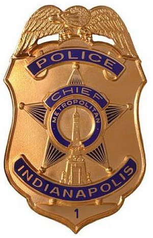 Indianapolis Metropolitan Police Department - Image: Indianapolis Metro Police Chief Badge