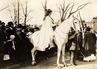 Inez Milholland - Inez Milholland, on horseback, led the March 3, 1913 Woman Suffrage Procession in Washington, D.C.
