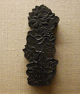 <i>Inkstick</i> Type of solid ink used in several East Asian cultures for calligraphy and brush painting