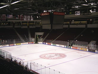 Agganis Arena - Inside of Agganis Arena after a BU Hockey Game