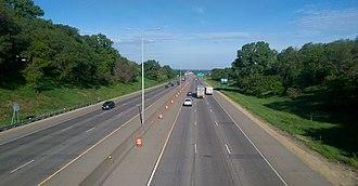 Fridley, Minnesota - Interstate 694 looking West through Fridley