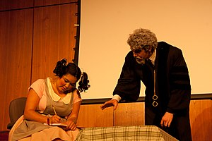 The Lesson - Image from Shimer College production