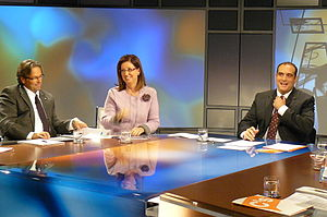 Xavier Bosch i Sancho - Xavier Bosch interviewing politician Irene Rigau