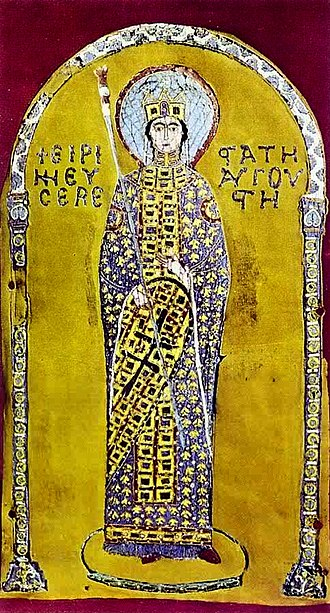 Irene Doukaina - Probable representation of Irene Doukaina from the Pala d'Oro in St Mark's Basilica in Venice, Italy