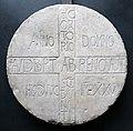 Iscrizione dell'abate audiberto, 838, dall'oratorio di san donato di maruni, vr.jpg