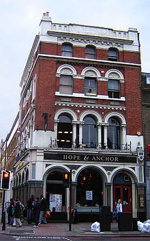 le pub Hope and Anchor à Londres
