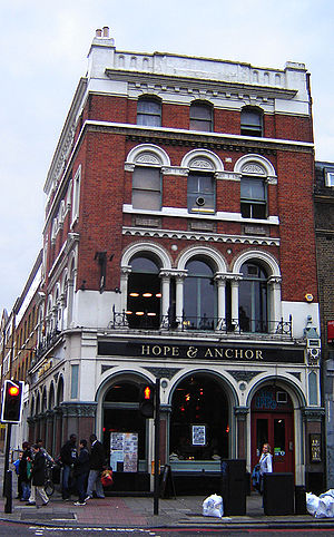 Pub rock (United Kingdom) - The Hope and Anchor in Islington, a notable pub rock venue