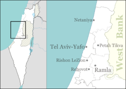 Ein Vered is located in Central Israel