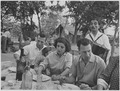 Italy. (People dining outdoors) - NARA - 541742.tif
