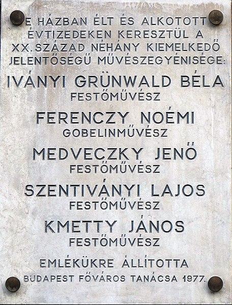 File:Iványi-Grünwald - Ferenczy - Medveczky - Szentiványi - Kmetty Bp05 Deák Ferenc23.jpg