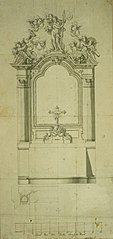 Design for an altar of St. Christopher