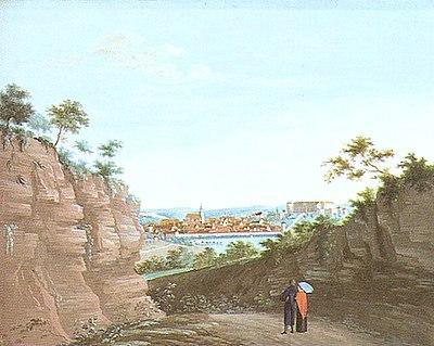 JC Partzschefeldt - Tübingen vom Stöckle aus Gouache ca 1820 Inv2291 (SW177).jpg