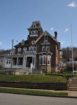 National Register of Historic Places listings in Lewis County, West Virginia - Image: JONATHAN M. BENNETT HOUSE, WESTON, LEWIS COUNTY, WV