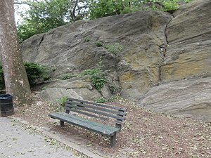 Jackie Robinson Park - Image: JRP Outcropping