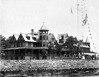 Larchmont Yacht Club - Larchmont Yacht Club, 1897, as photographed by John S. Johnston