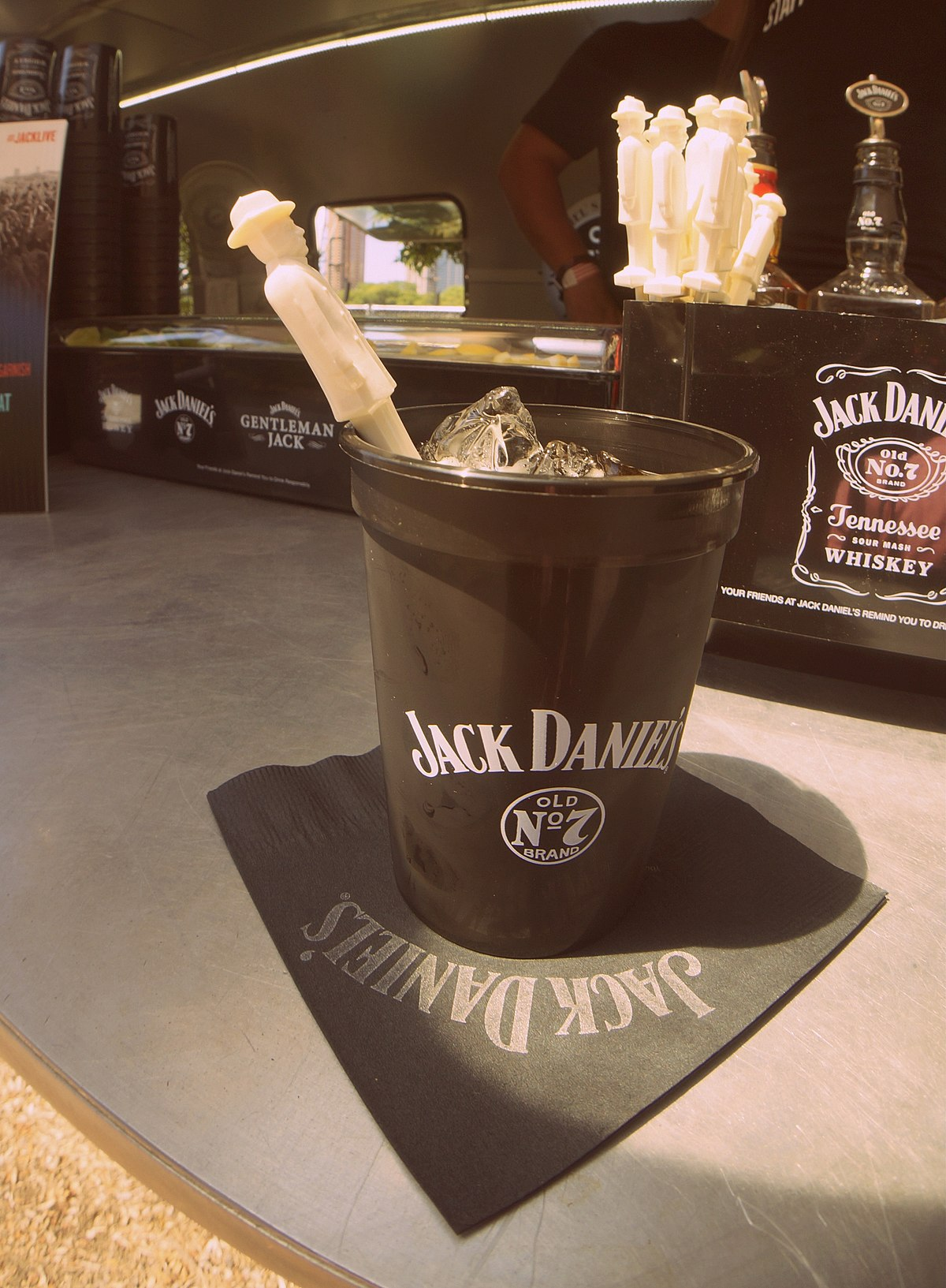 Jack and coke on the rocks