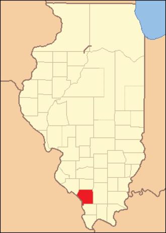 Jackson County, Illinois - Image: Jackson County Illinois 1827