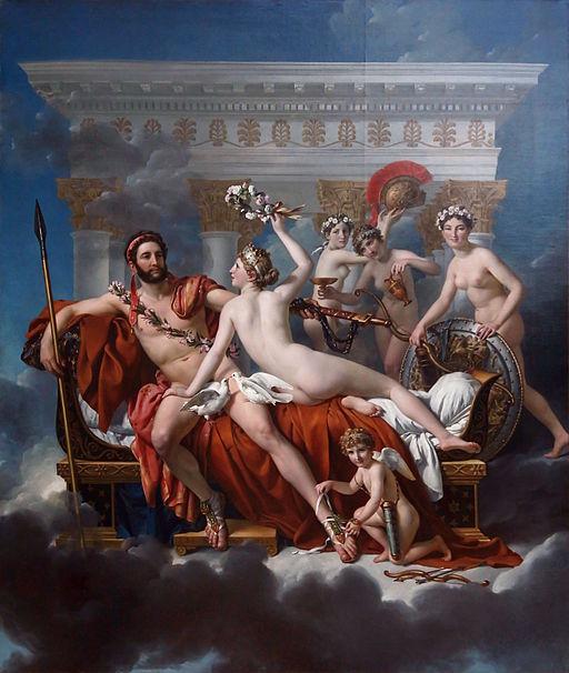 Jacques-Louis David - Mars désarmé par Vénus