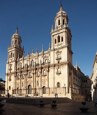 Jaén Cathedral - Main facade.