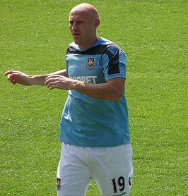 James Collins bij West Ham in 2012