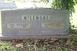 James M. McLemore - Graves of James and Kathryne McLemore in Springville Cemetery in Coushatta, Louisiana