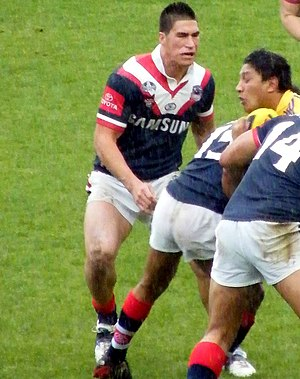 James Tamou - Tamou in action for the Sydney Roosters NYC side against Parramatta in 2008