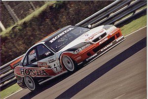 James Thompson (racing driver) - Thompson driving for Honda in the 1998 British Touring Car Championship.