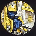 Januar by the fireside - Glass painting from Norwich.jpg