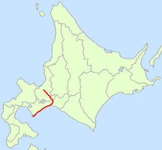 road in Hokkaido, Japan