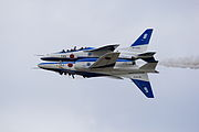 Japan air self defense force Kawasaki T-4 Blue Impulse RJNK Back to Back.JPG
