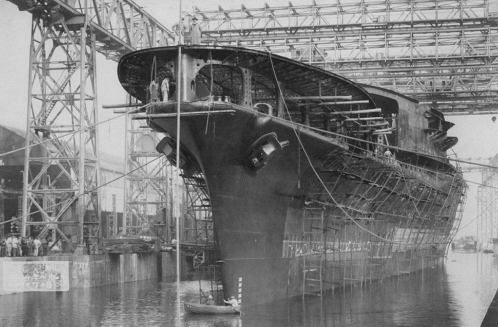 Japanese aircraft carrier Akagi 1925