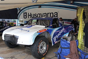 Jarit Johnson - Johnson's Pro-2 TORC truck in the pits at Crandon