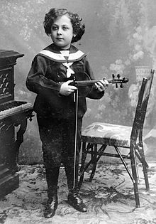 photo : Heifetz enfant
