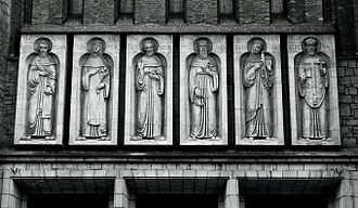 Jasło - Façade of St. Anthony's Church in Jasło