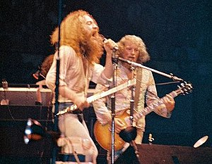 Jethro Tull (band) - Ian Anderson and Martin Barre of Jethro Tull in Chicago, 1973