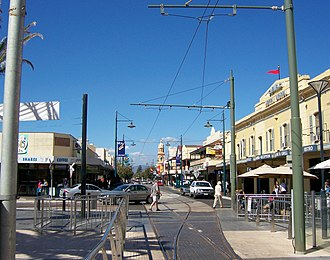 Jetty Road, Glenelg - Jetty Road, as viewed from Moseley Square.