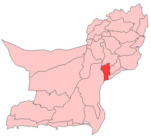 Map of Balochistan with Jhal Magsi District hi...
