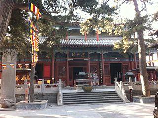 Jietai Temple building in Mentougou District, China