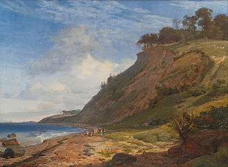 Johan Thomas Lundbye - A Danish Coast. View from Kitnæs on Roskilde Fjord
