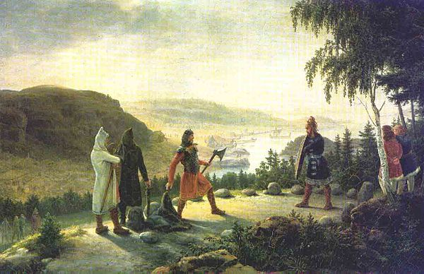 Egill Skallagrimsson engaging in holmgang with Berg-Onundr, painting by Johannes Flintoe Johannes-flintoe-egil-skallarimsson.jpg