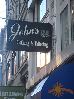 Tailor - Clothier and tailor in the Financial District of Boston, Massachusetts