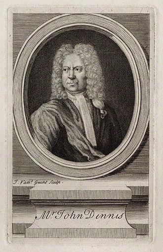 John Dennis (dramatist) - Engraving of John Dennis 1734
