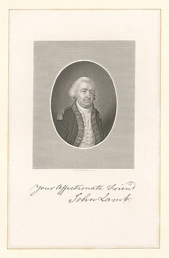 John Lamb (general) - Image and signature of Lamb from the archives of the New York Public Library