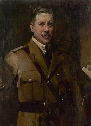John Longstaff - Portrait of John Longstaff by fellow war artist George James Coates, 1918, National Library of Australia