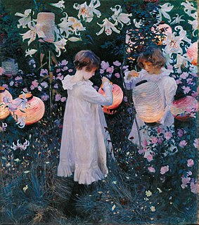 <i>Carnation, Lily, Lily, Rose</i> painting by John Singer Sargent