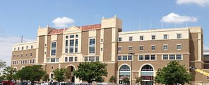 Jones AT&T Stadium - The east side building post-completion