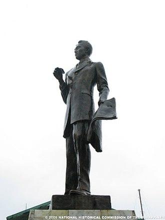 José María Panganiban - JOMAPA monument in front of the municipal building