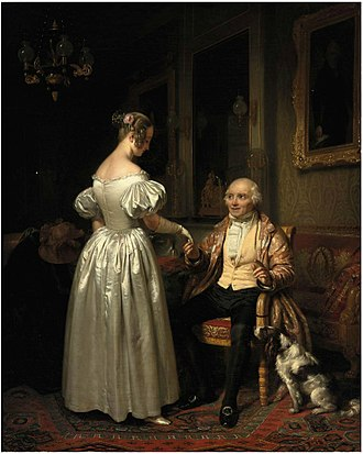 Father - Parental Advice by Josephus Laurentius Dyckmans,  created 1831-1888