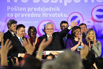 President of Croatia - Ivo Josipović, election victory speech